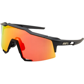 100% Speedcraft Lunettes Grand, soft tact black/red